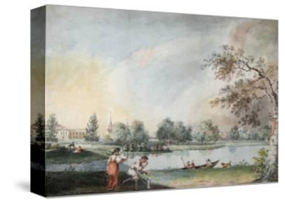The Ponds before the Urban Estate of Count Alexei Kirillovich Razumovsky in Moscow, Early 1800S-Ivan Alexeyevich Ivanov-Stretched Canvas Print