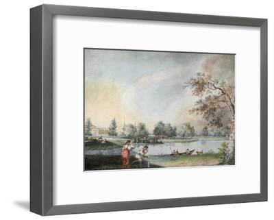 The Ponds before the Urban Estate of Count Alexei Kirillovich Razumovsky in Moscow, Early 1800S-Ivan Alexeyevich Ivanov-Framed Giclee Print