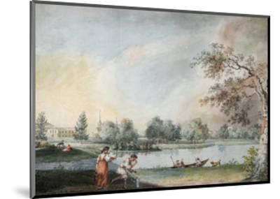 The Ponds before the Urban Estate of Count Alexei Kirillovich Razumovsky in Moscow, Early 1800S-Ivan Alexeyevich Ivanov-Mounted Giclee Print