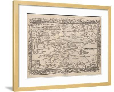 Map of Russia (From: Rerum Moscoviticarum Commentarii.), 1556--Framed Giclee Print