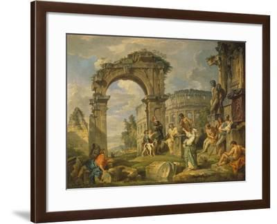 Cumaean Sibyl Prophesied the Birth of Christ, 1743-Giovanni Paolo Panini-Framed Giclee Print
