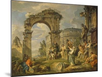 Cumaean Sibyl Prophesied the Birth of Christ, 1743-Giovanni Paolo Panini-Mounted Giclee Print