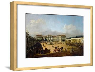 Schönbrunn Palace Viewed from the Front Side, Between 1758 and 1761-Bernardo Bellotto-Framed Giclee Print
