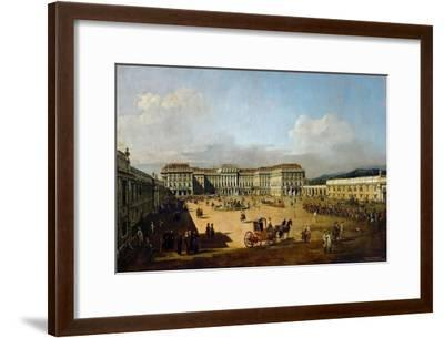 Schönbrunn Palace Viewed from the Front Side, Between 1758 and 1761-Bernardo Bellotto-Framed Giclee Print