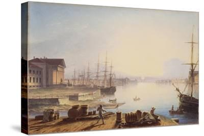 Sunrise over the Neva in St. Petersburg, 1830-Maxim Nikiphorovich Vorobyev-Stretched Canvas Print