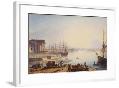 Sunrise over the Neva in St. Petersburg, 1830-Maxim Nikiphorovich Vorobyev-Framed Giclee Print