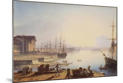 Sunrise over the Neva in St. Petersburg, 1830-Maxim Nikiphorovich Vorobyev-Mounted Giclee Print