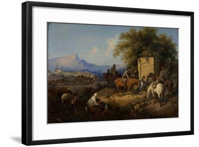 Russian Forces Crosses the Caucasus Mountains in Adjara, 1872-Gottfried Willewalde-Framed Giclee Print