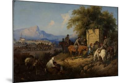Russian Forces Crosses the Caucasus Mountains in Adjara, 1872-Gottfried Willewalde-Mounted Giclee Print