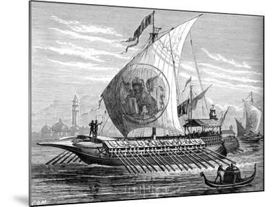 Venetian Galley--Mounted Giclee Print
