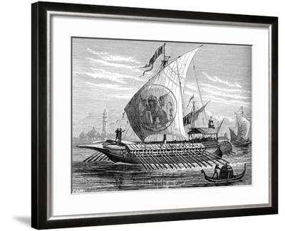 Venetian Galley--Framed Giclee Print