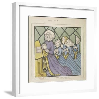 Detail of a Stained Glass Window , St Giles, South Mimms, Hertfordshire, C1800--Framed Giclee Print