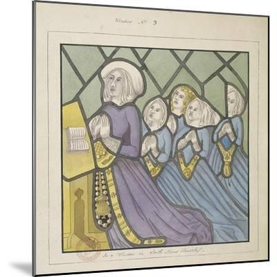 Detail of a Stained Glass Window , St Giles, South Mimms, Hertfordshire, C1800--Mounted Giclee Print