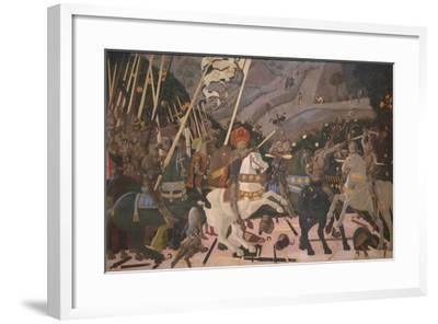 Niccolò Mauruzi Da Tolentino at the Battle of San Romano, C. 1440-Paolo Uccello-Framed Giclee Print