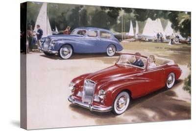Poster Advertising a Sunbeam-Talbot 90, 1954--Stretched Canvas Print