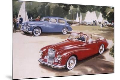 Poster Advertising a Sunbeam-Talbot 90, 1954--Mounted Giclee Print