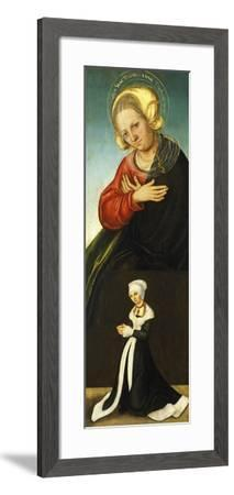 Saint Anne with the Duchess Barbara of Saxony as Donor, Ca 1514-Lucas Cranach the Elder-Framed Giclee Print