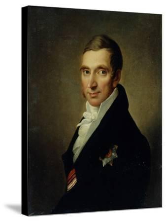Portrait of the Physician Johann-Georg Von Ruehl (1768-184), 1823-Ivan Vasilyevich Luchaninov-Stretched Canvas Print