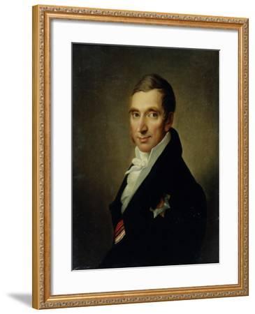 Portrait of the Physician Johann-Georg Von Ruehl (1768-184), 1823-Ivan Vasilyevich Luchaninov-Framed Giclee Print