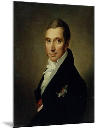 Portrait of the Physician Johann-Georg Von Ruehl (1768-184), 1823-Ivan Vasilyevich Luchaninov-Mounted Giclee Print