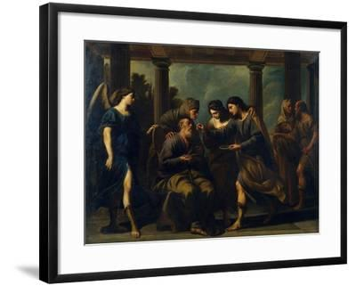 Tobias Healing His Father's Blindness, C. 1640-Andrea Vaccaro-Framed Giclee Print