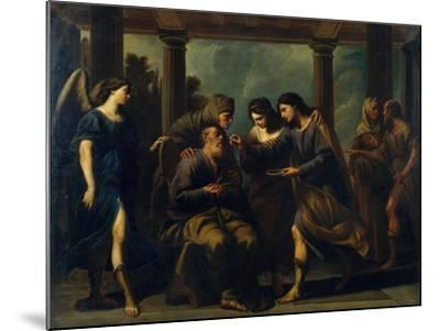 Tobias Healing His Father's Blindness, C. 1640-Andrea Vaccaro-Mounted Giclee Print