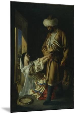 Leila and Khadji Abrek (After the Poem by M. Lermonto), 1852-Nikolai Nikolayevich Ge-Mounted Giclee Print