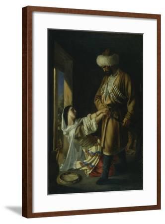 Leila and Khadji Abrek (After the Poem by M. Lermonto), 1852-Nikolai Nikolayevich Ge-Framed Giclee Print