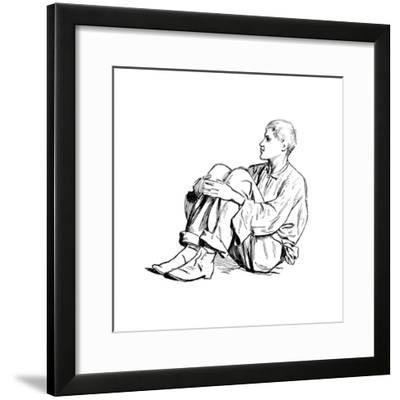 Study of a Seated Man, 1895-Henry Stacy Marks-Framed Giclee Print