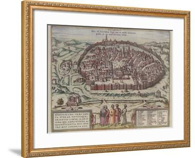 The Jerusalem Map (From: Jansson, Jan. Illustriorum Hispaniae Urbium Tabulae, Amsterdam, 165), 1657-Frans Hogenberg-Framed Giclee Print