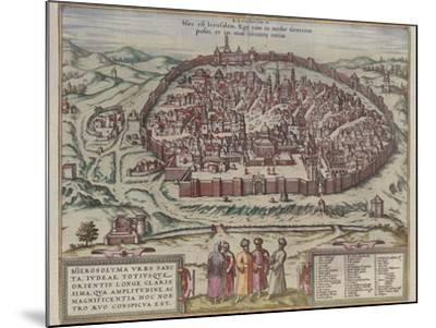 The Jerusalem Map (From: Jansson, Jan. Illustriorum Hispaniae Urbium Tabulae, Amsterdam, 165), 1657-Frans Hogenberg-Mounted Giclee Print