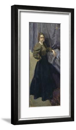 Portrait of the Painter Yelizaveta Martynova (1868-190), 1896-Osip Emmanuilovich Braz-Framed Giclee Print