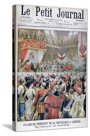 A Banquet for the Visiting French President, Guildhall, London, 1903--Stretched Canvas Print