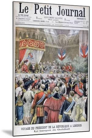 A Banquet for the Visiting French President, Guildhall, London, 1903--Mounted Giclee Print
