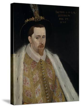 James VI and I (1566-162), King of Scotland, 1595-Adrian Vanson-Stretched Canvas Print