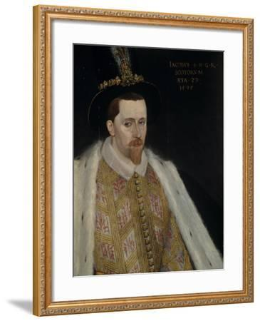 James VI and I (1566-162), King of Scotland, 1595-Adrian Vanson-Framed Giclee Print