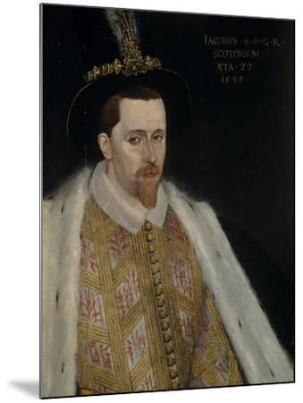 James VI and I (1566-162), King of Scotland, 1595-Adrian Vanson-Mounted Giclee Print