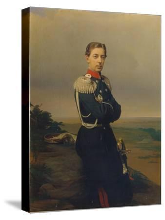 Portrait of Tsarevich Nicholas Alexandrovich of Russia-Sergei Konstantinovich Zaryanko-Stretched Canvas Print