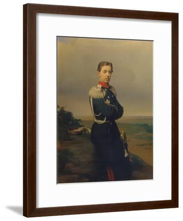 Portrait of Tsarevich Nicholas Alexandrovich of Russia-Sergei Konstantinovich Zaryanko-Framed Giclee Print