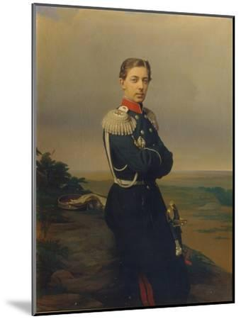 Portrait of Tsarevich Nicholas Alexandrovich of Russia-Sergei Konstantinovich Zaryanko-Mounted Giclee Print