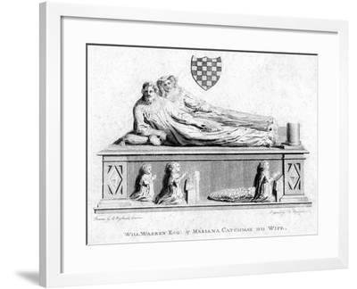 William Warren and His Wife, Mariana Catchmay, 1788--Framed Giclee Print