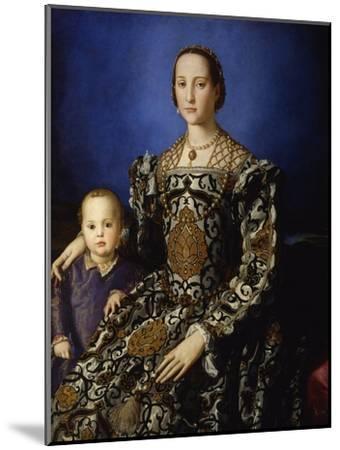 Portrait of Eleanor of Toledo with Her Son Giovanni, Ca 1545-Agnolo Bronzino-Mounted Premium Giclee Print
