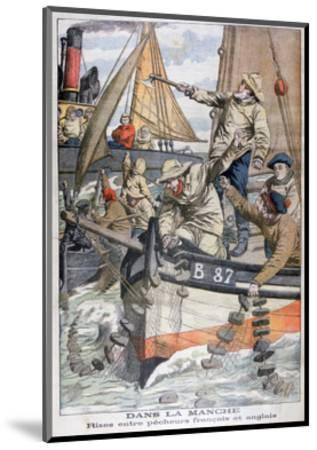 Dispute Between French and English Fishermen in the Channel, 1904--Mounted Giclee Print