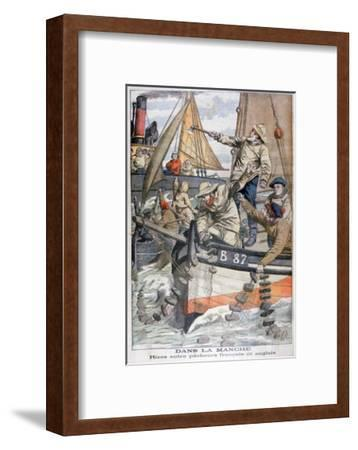 Dispute Between French and English Fishermen in the Channel, 1904--Framed Giclee Print