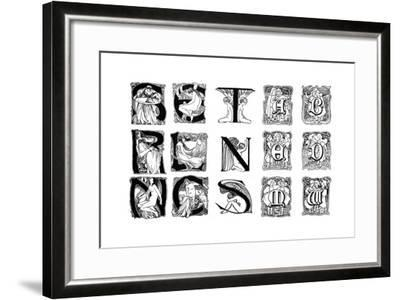 A Set of Decorative Initial Letters, 1898--Framed Giclee Print
