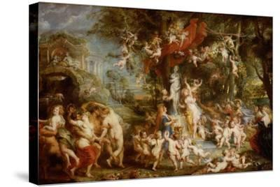 The Feast of Venus (The Festival of Venus Verticordi), 1636-1637-Peter Paul Rubens-Stretched Canvas Print
