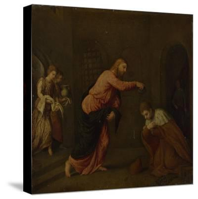Christ Baptising Saint John the Martyr of Alexandria, C. 1565-Paris Bordone-Stretched Canvas Print