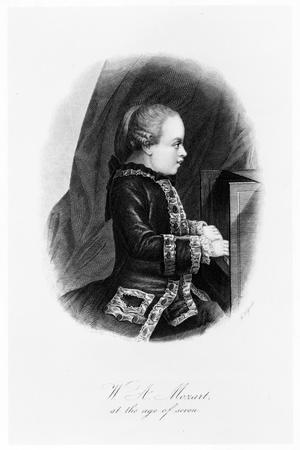 Mozart as a Child, C1763--Framed Giclee Print