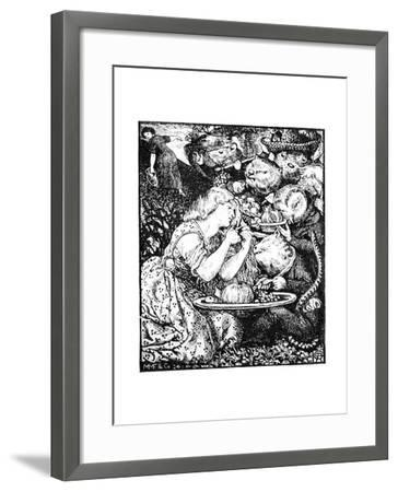 Buy from Us with a Golden Curl--Framed Giclee Print