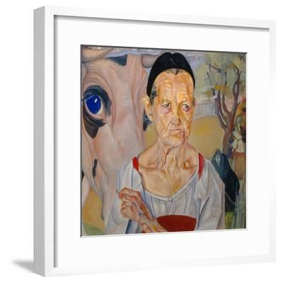 Dairywoman (From the Cycle Les Visages De Russi), 1917-Boris Dmitryevich Grigoriev-Framed Giclee Print